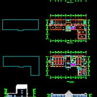 3层框架消防站建筑设计方案图