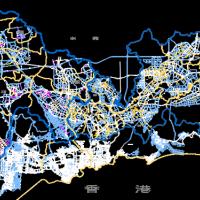 深圳市全市路网图(矢量图独立坐标CAD)