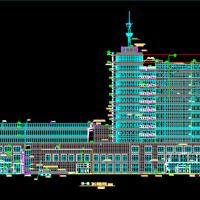 12层框架电视台综合楼建筑方案图