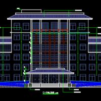 4484平米半坡顶六层办公楼建筑设计图