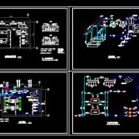 宾馆水源热泵机房CAD设计图