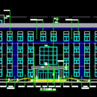 四层综合执法办公楼建筑施工图