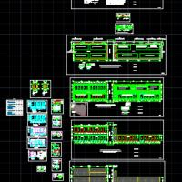 项目部临建设施总平面及活动板房建筑图