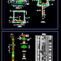 半地下式深井泵房井室设计图
