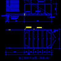 钢结构悬挑卸料平台设计cad图纸