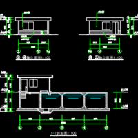 500立方消防水池泵房建筑及结构图