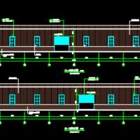 24米跨钢结构厂房建筑及结构施工图
