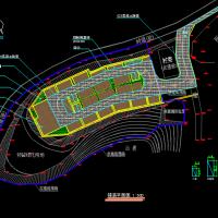 植草砖停车场建筑设计施工图纸