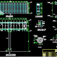 22m独立柱钢结构双面广告牌结构施工图