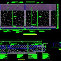 某工厂沥青混凝土道路标准横断面布置图及细部结构图