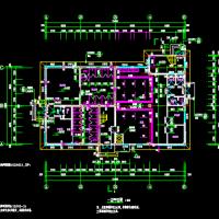 714平米两层框架结构食堂浴室建筑及结构设计全套图