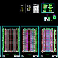 24层住宅楼建筑设计方案CAD图(剪刀梯)