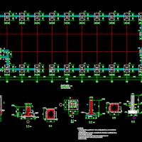 21米跨门式刚架钢结构厂房施工图(带吊车)