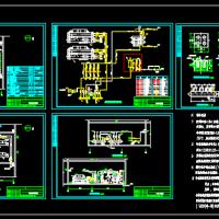 水冷螺杆机制冷机房CAD图