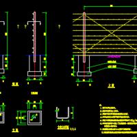 刺丝隔离栅CAD设计图