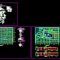 商场天井封楼板改造施工图(梁夹钢碳纤维加固)