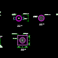 混凝土圆柱加固图(外包钢加固法)