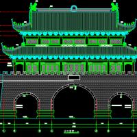 天河古城楼建筑施工图