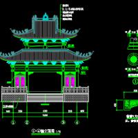 财神庙建筑及结构全套图纸