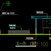 某厂区门卫室及围墙建筑结构施工图