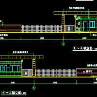 某地工厂传达室大门建筑设计施工图