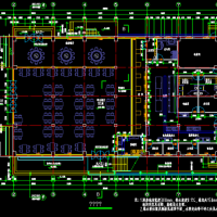 某中学食堂及风雨操场建筑施工图(篮球馆)