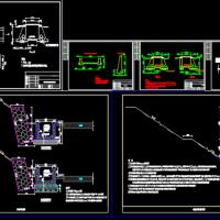 截洪沟 排水沟 排水渠设计图