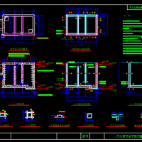 污水调节池平面布置图及配筋图