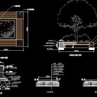 带坐凳树池施工图