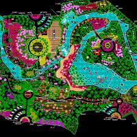 大型公园景观规划总平图