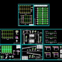 18米跨钢结构厂房结构设计施工图