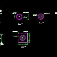 混凝土圆柱加固大样图(外包钢加固法)
