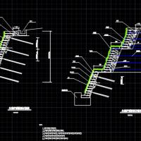 绿维生态袋加土工格栅(锚杆)边坡防护施工图