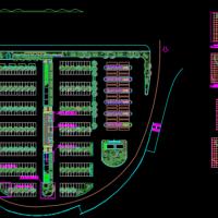 大型停车场种植设计CAD方案