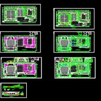 某文化馆报告厅中央空调CAD设计施工图