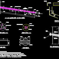 双排与单排桩及锚索基坑支护图纸