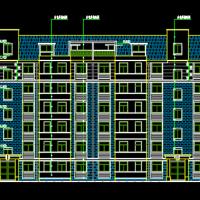 3876平米6层框架结构住宅楼建筑施工图