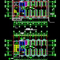 大学浴室澡堂建筑设计施工图