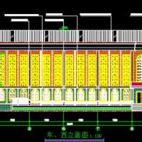 学校室内篮球馆建筑设计施工图