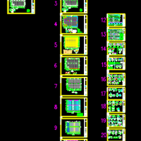 完整一套钢结构厂房结构图纸