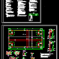 室外游泳池结构设计CAD施工图