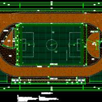 300m操场跑道及运动设施设计施工图