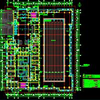 综合楼游泳池办公健身建筑结构施工图