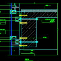 半隐框玻璃幕墙节点CAD图