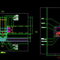 隐框玻璃幕墙两个CAD节点图