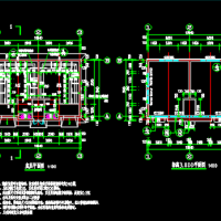 农村公共厕所建筑施工图(水冲沟槽式)