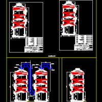喷淋塔CAD图纸