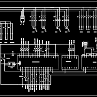 恒温恒湿空调PLC控制电气原理CAD图
