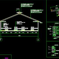 某犊牛舍建筑及结构施工图纸