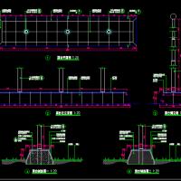 升旗台、旗杆基础CAD施工图